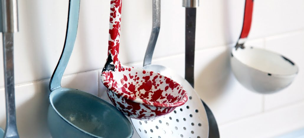 Colourful cooking utensils